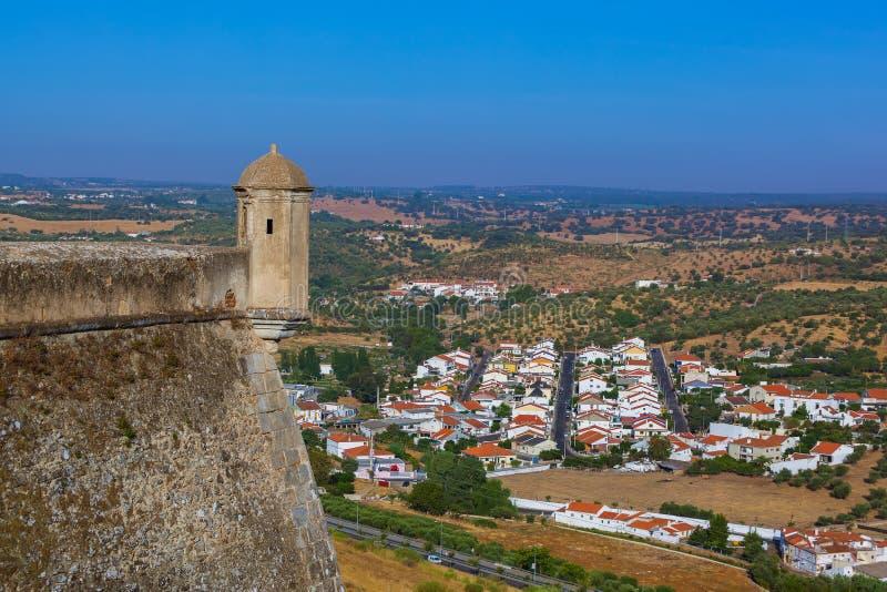 老镇Elvas -葡萄牙 库存照片