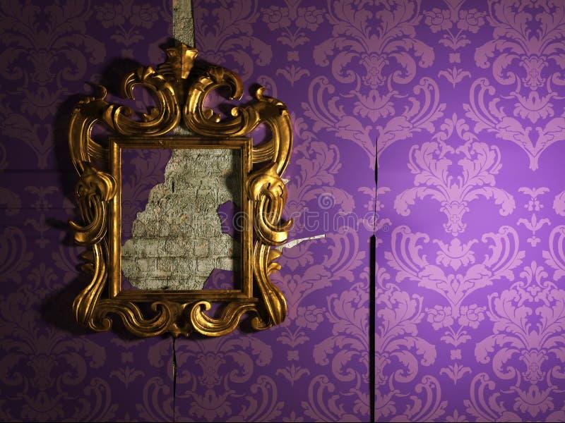 老镜子 库存例证