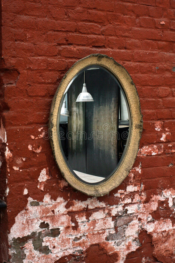 老镜子 图库摄影