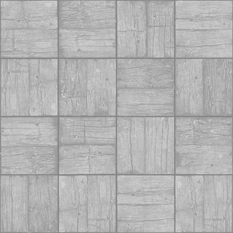 老镶花地板背景-导航单色难看的东西元素 向量例证
