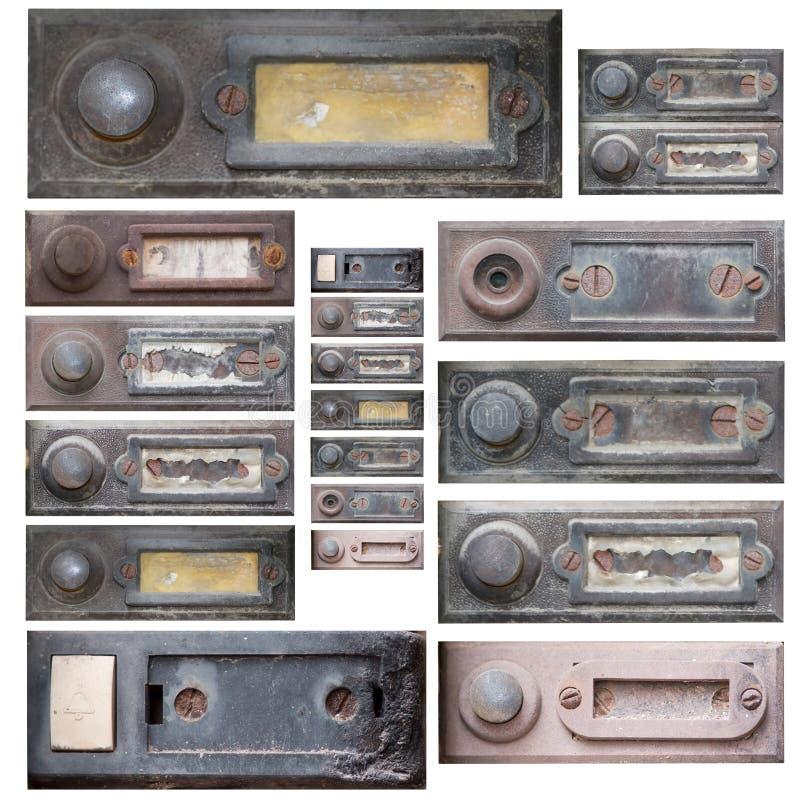 老门铃的套 免版税库存图片