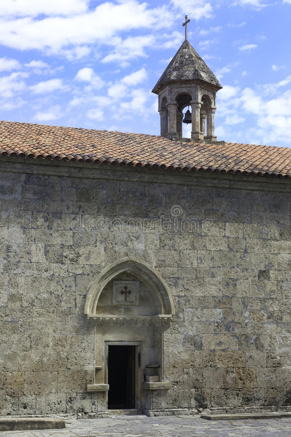 老阿尔巴尼亚人Jotari教会在阿塞拜疆 免版税图库摄影