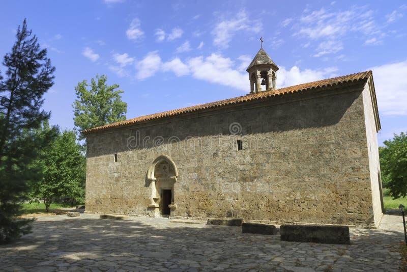 老阿尔巴尼亚人Jotari教会在阿塞拜疆 免版税库存照片