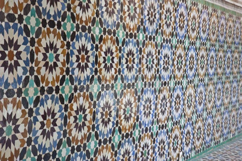 老阿拉伯几何马赛克 库存图片