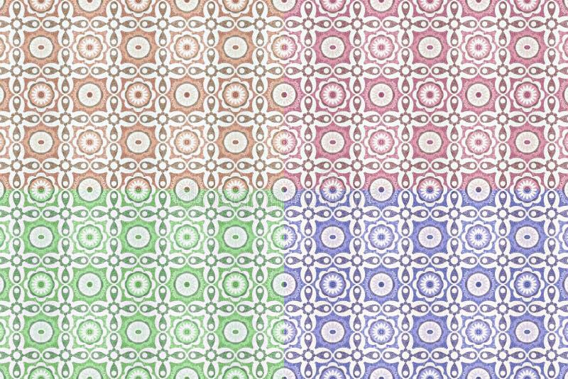 老陶瓷砖样式 向量例证