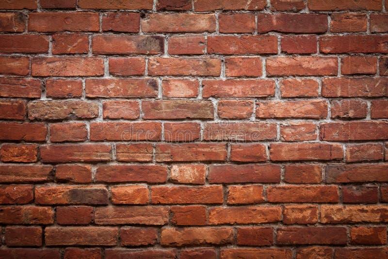 老难看的东西红砖墙壁 免版税库存照片