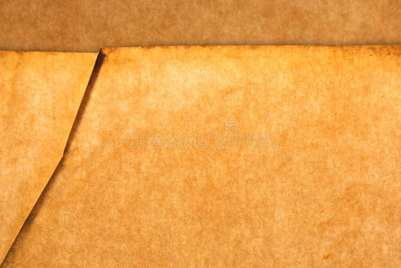 老难看的东西褐色干燥纸纹理 免版税库存图片