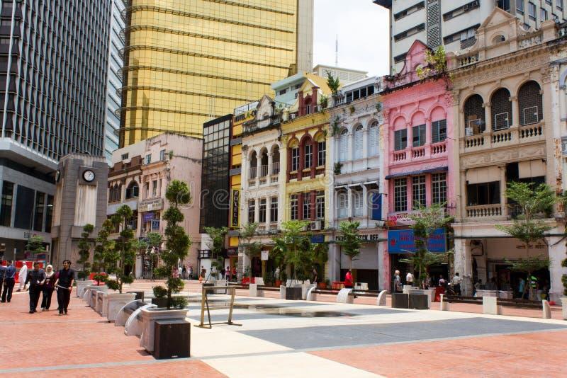 老集市广场在吉隆坡 免版税库存图片