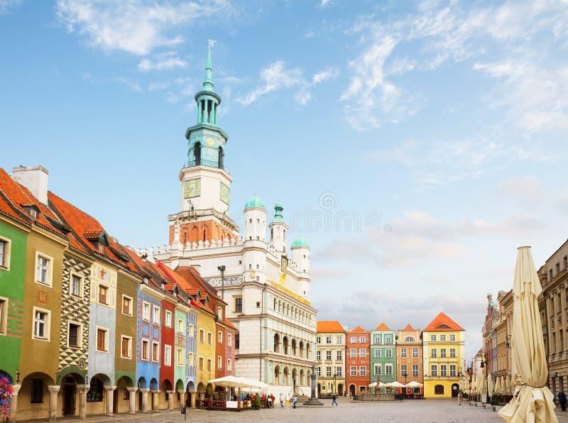 老集市广场在波兹南,波兰 免版税图库摄影