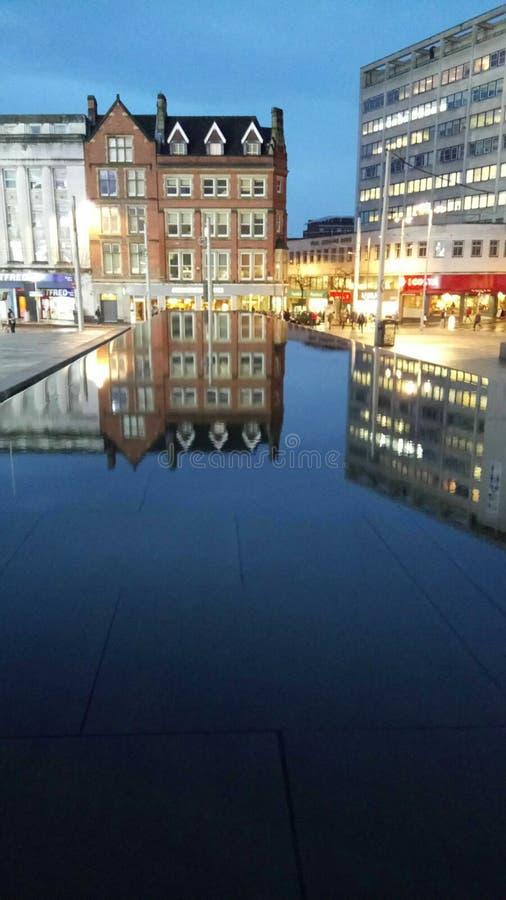 老集市广场,诺丁汉 免版税库存图片