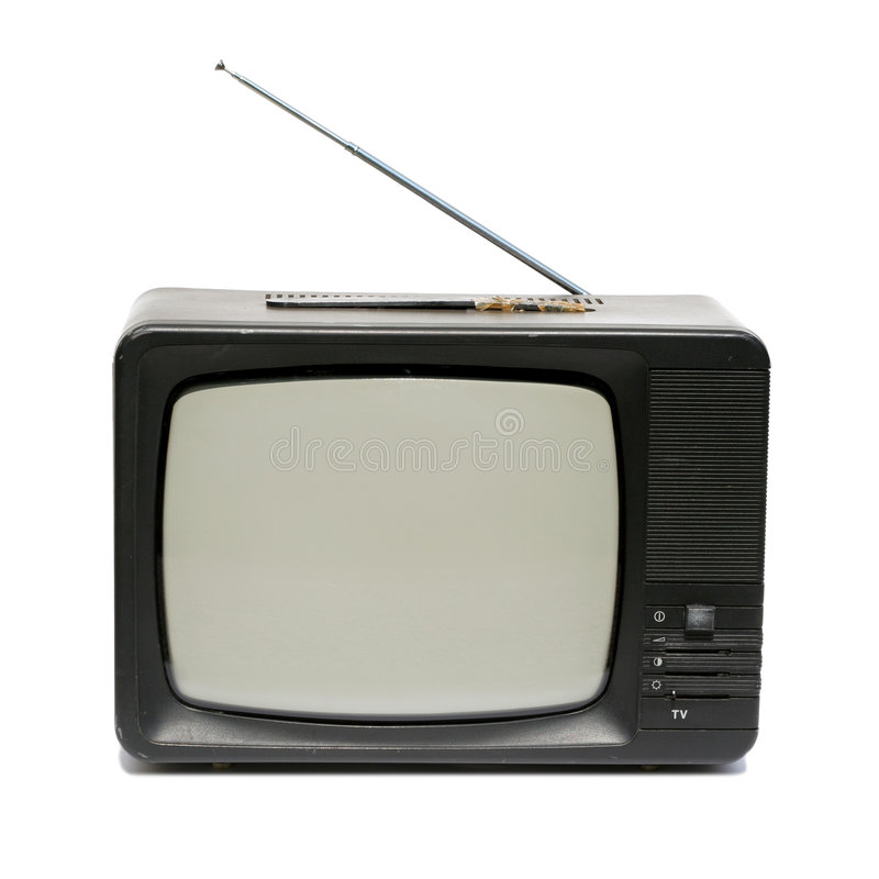 老集电视 免版税库存照片