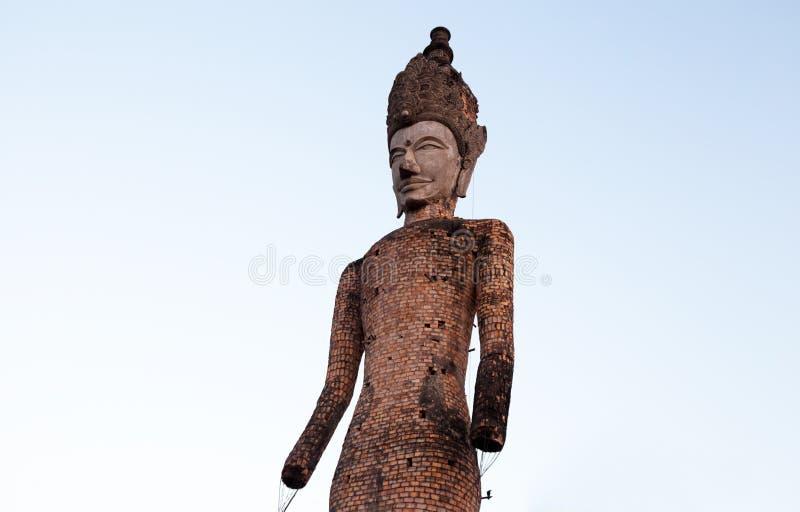 老雕象在Sala Keo寇寺庙,廊开,泰国,亚洲 库存照片