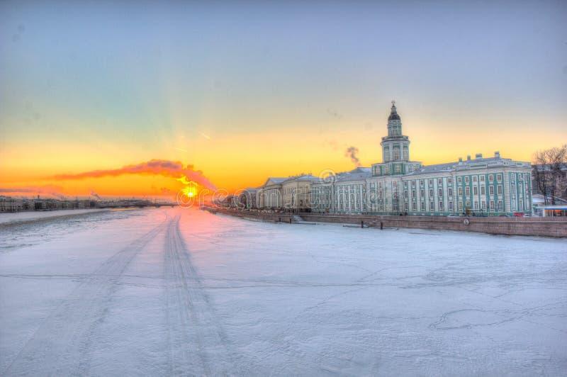 老雪城市 库存照片