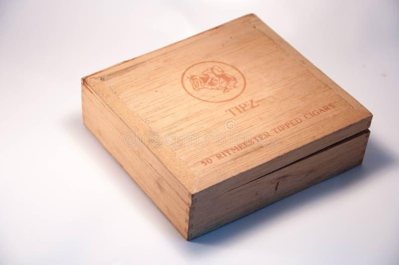 老雪茄盒 免版税图库摄影
