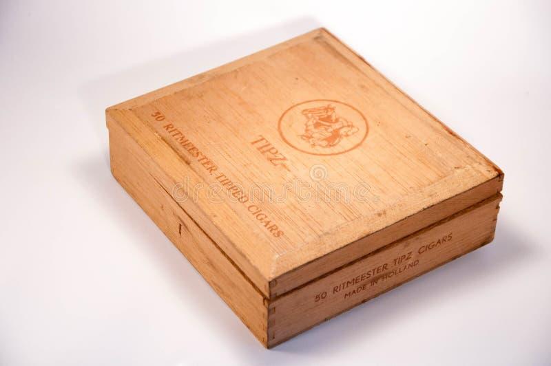 老雪茄盒 图库摄影