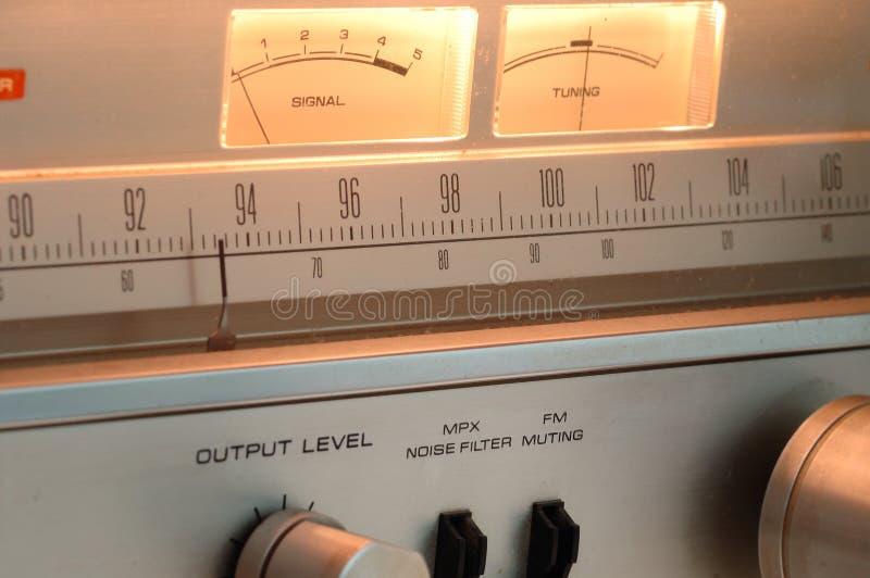 老面板收音机 免版税图库摄影