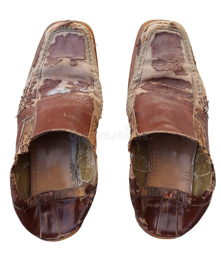 老鞋子损伤 免版税库存照片