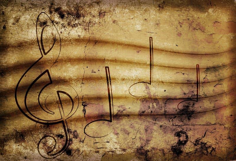 老音乐纸张 库存例证
