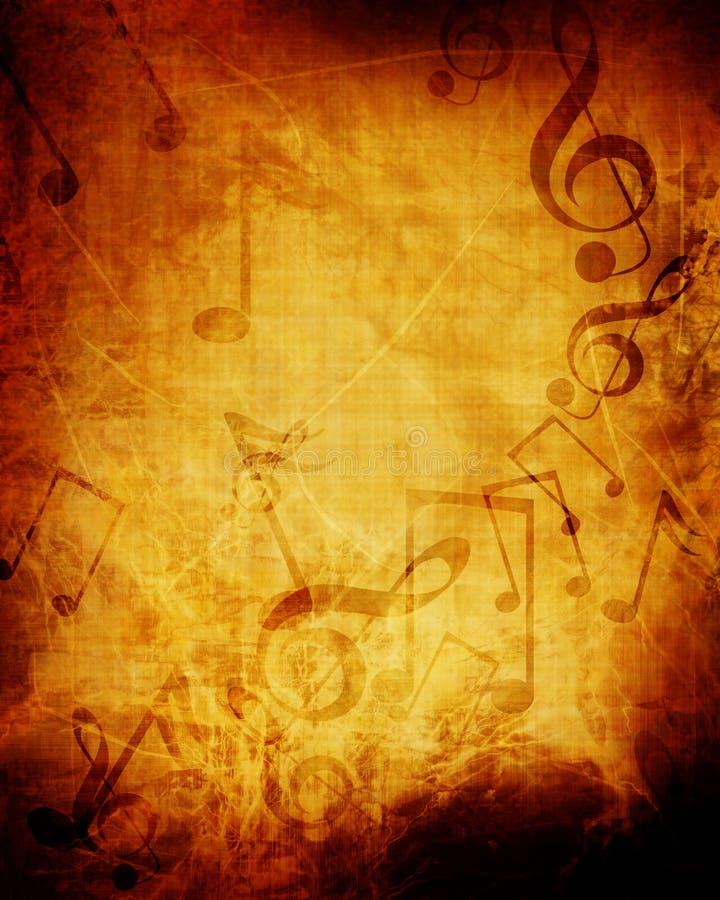 老音乐纸张 皇族释放例证