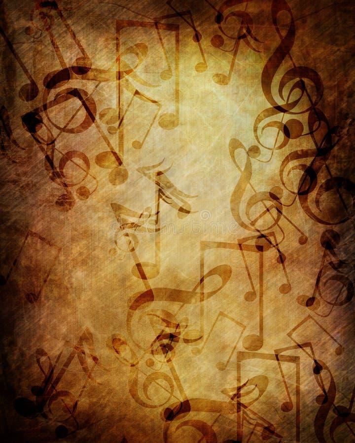老音乐纸张 向量例证