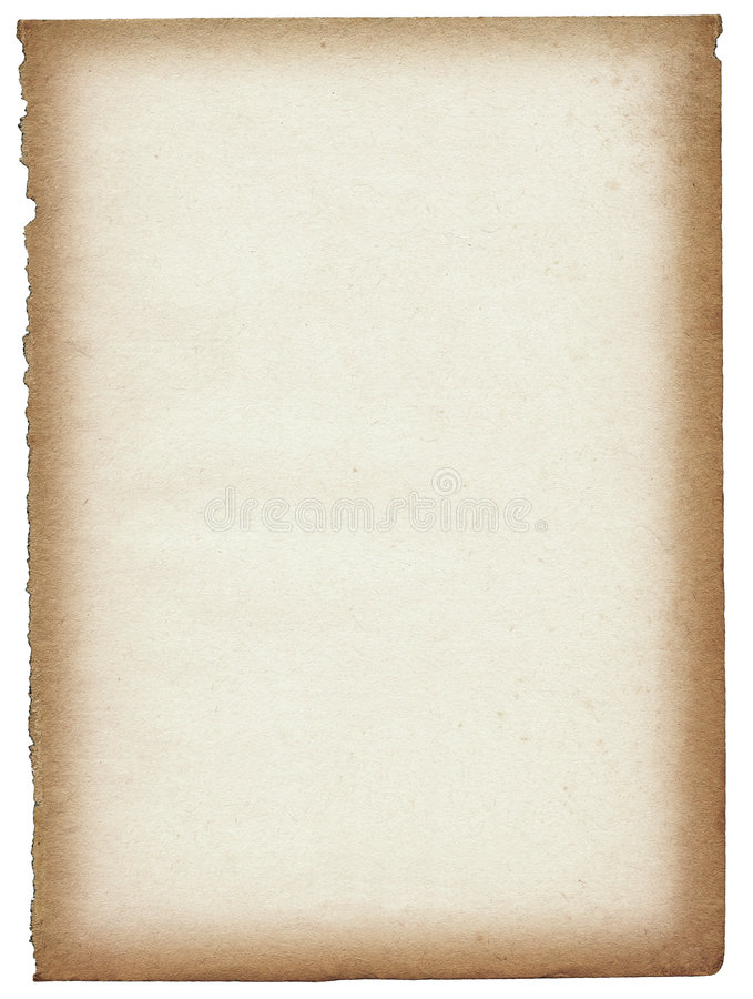 老页纸张 库存例证