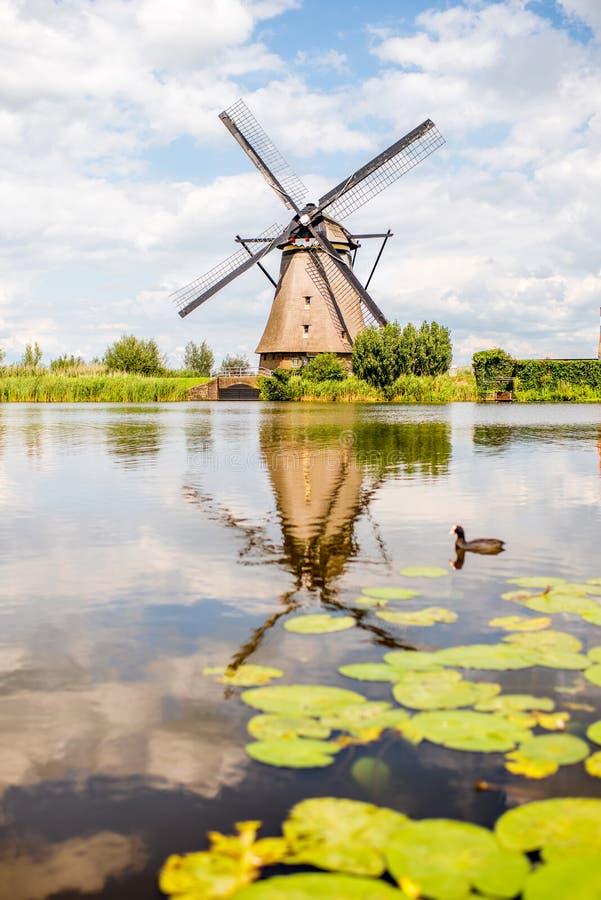 老风车在荷兰 免版税库存图片
