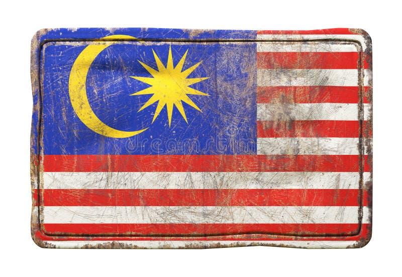 老马来西亚旗子 向量例证