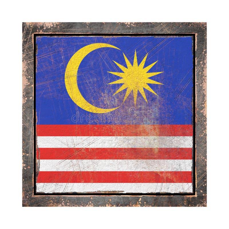 老马来西亚旗子 库存例证