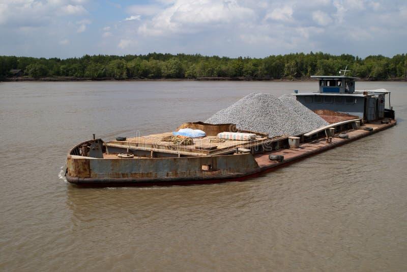 老驳船 免版税图库摄影