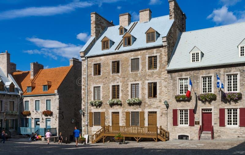 老魁北克市,加拿大 免版税图库摄影