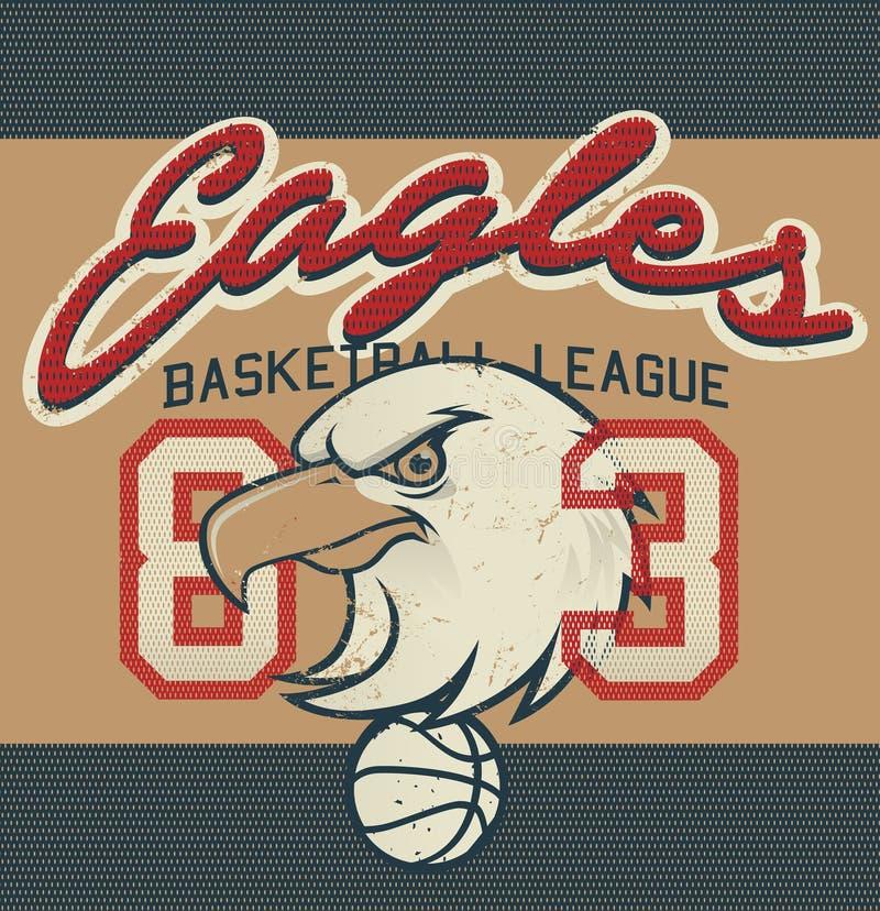 老鹰乐队篮球联盟球衣印刷品 皇族释放例证