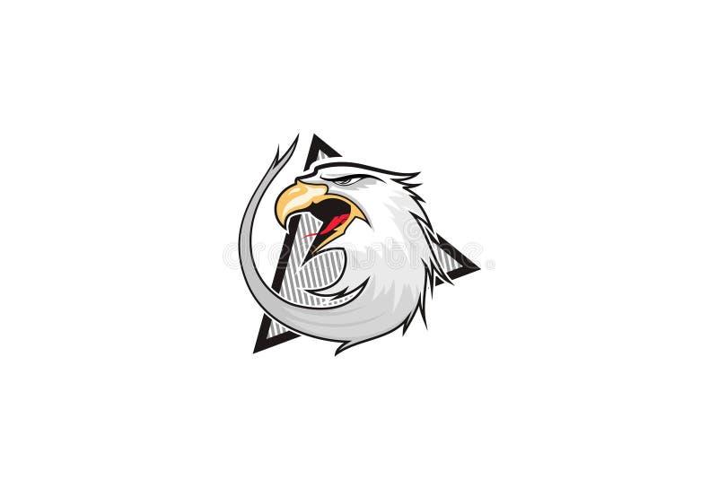 老鹰传染媒介商标模板 库存例证