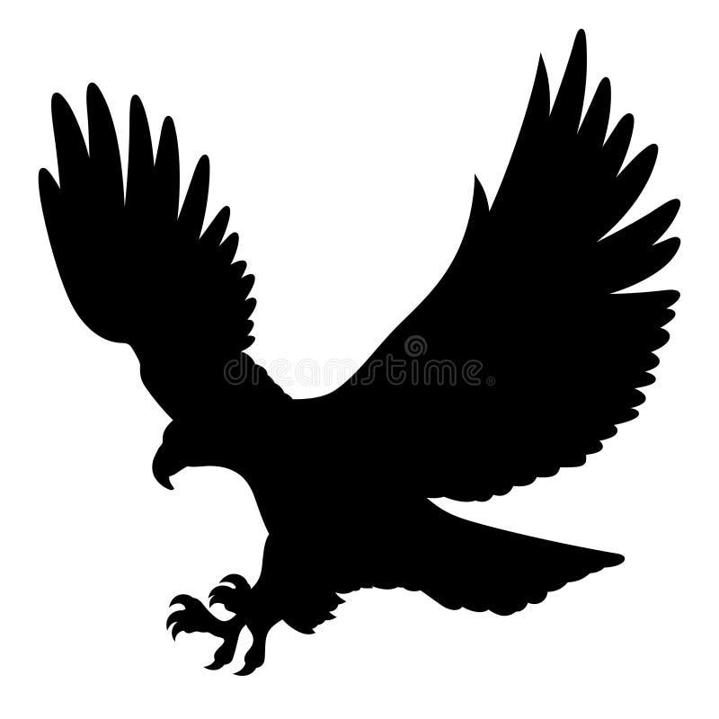 老鹰剪影004 向量例证