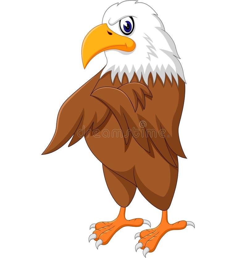 老鹰动画片摆在 库存例证