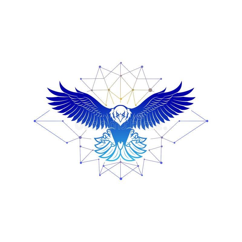 老鹰商标设计启发传染媒介 皇族释放例证