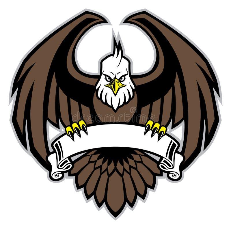 老鹰夹子空白的丝带 皇族释放例证