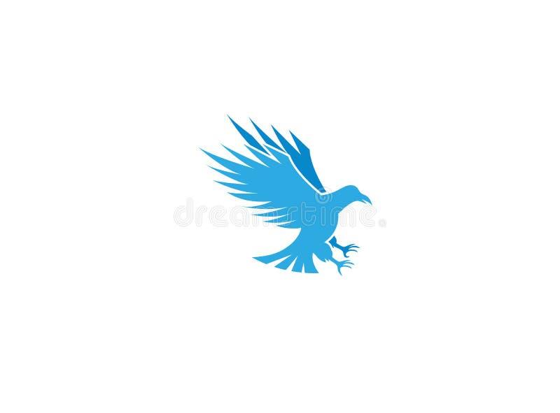 老鹰寻找并且拿着与他的爪的牺牲者商标的 库存例证