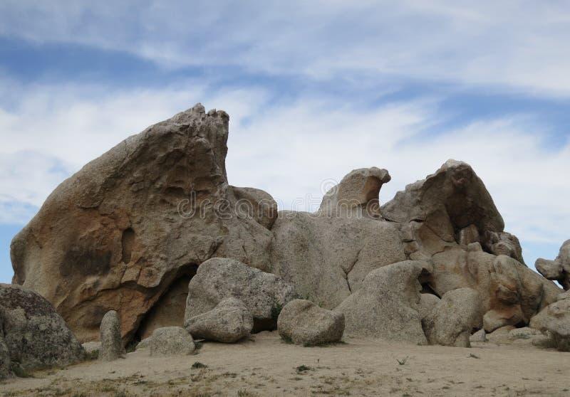 老鹰岩石,和平的冠足迹,南加州 免版税库存图片