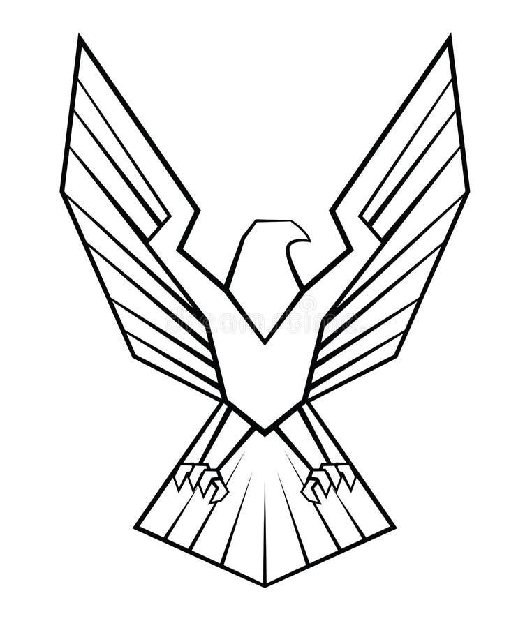 老鹰标志 向量例证