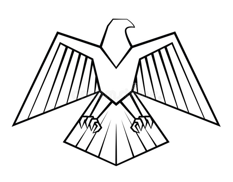 老鹰标志 皇族释放例证