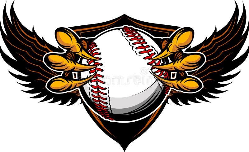 老鹰棒球爪和爪例证 向量例证