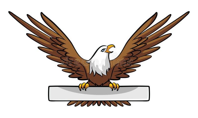 老鹰横幅 皇族释放例证