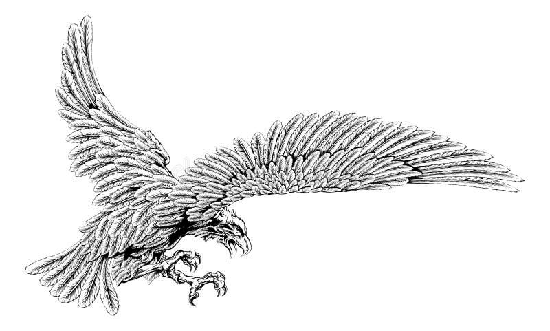 老鹰猛扑 向量例证