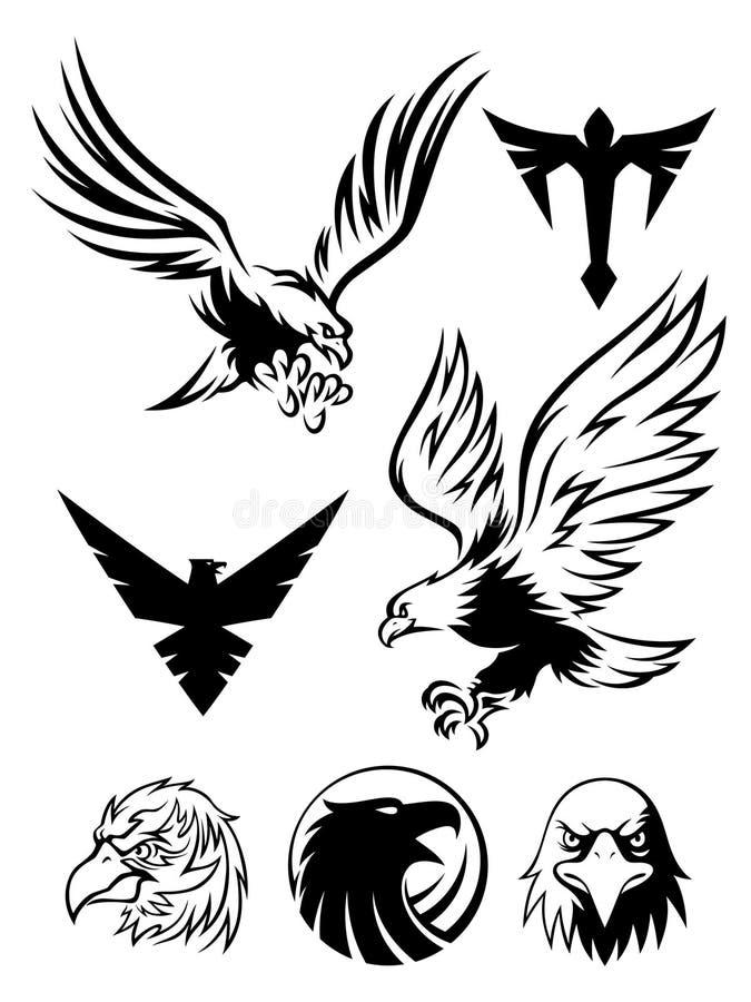老鹰符号 向量例证