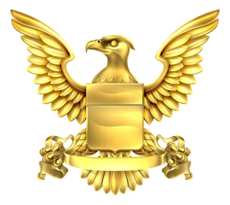 老鹰纹章徽章 皇族释放例证