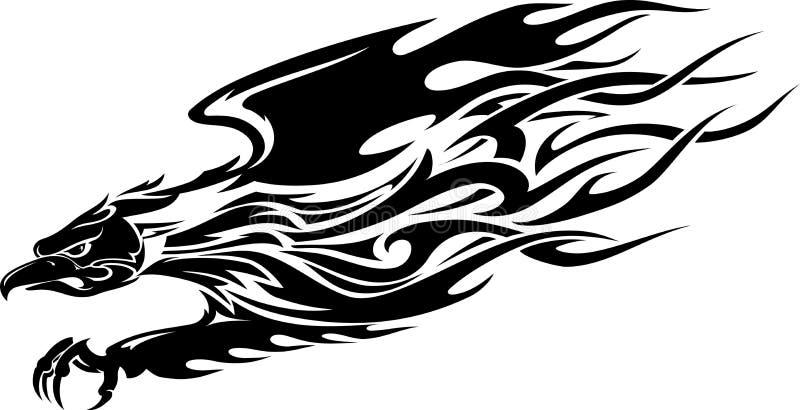 老鹰纹身花刺 库存例证