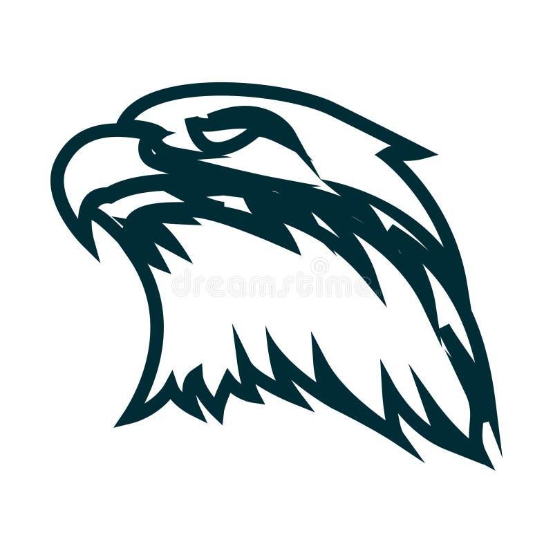 老鹰线艺术商标设计 老鹰顶头概述传染媒介例证 老鹰头最低纲领派象设计 向量例证