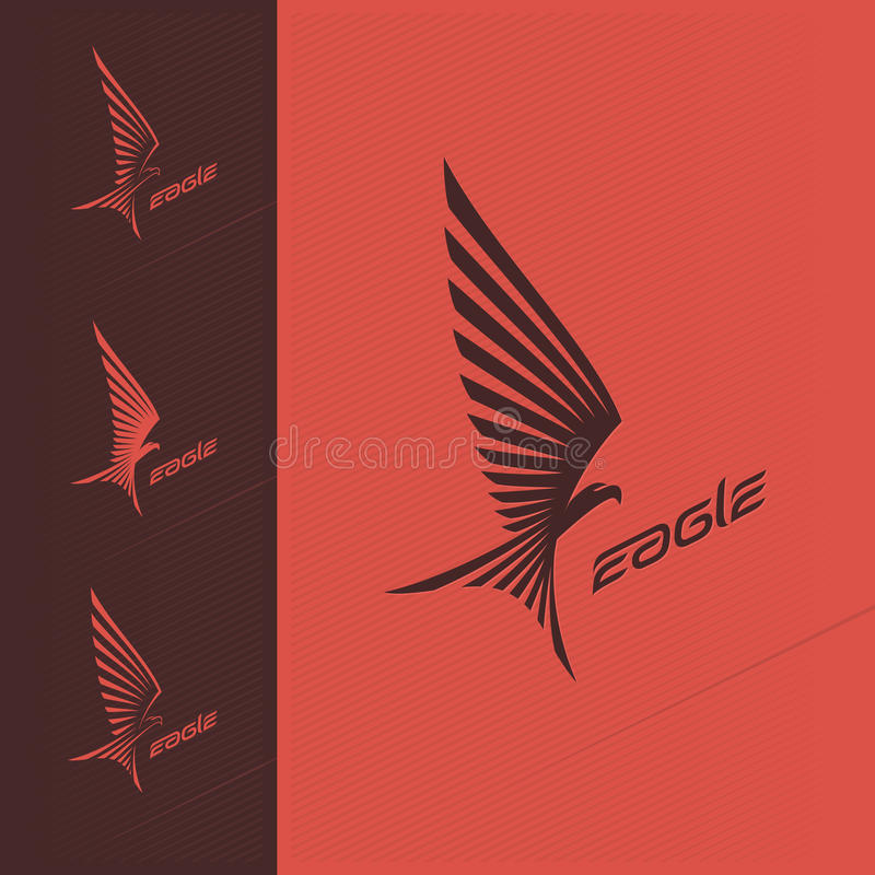 老鹰象征设计商标 免版税库存图片