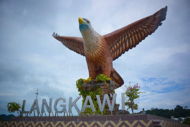 老鹰雕塑 免版税图库摄影