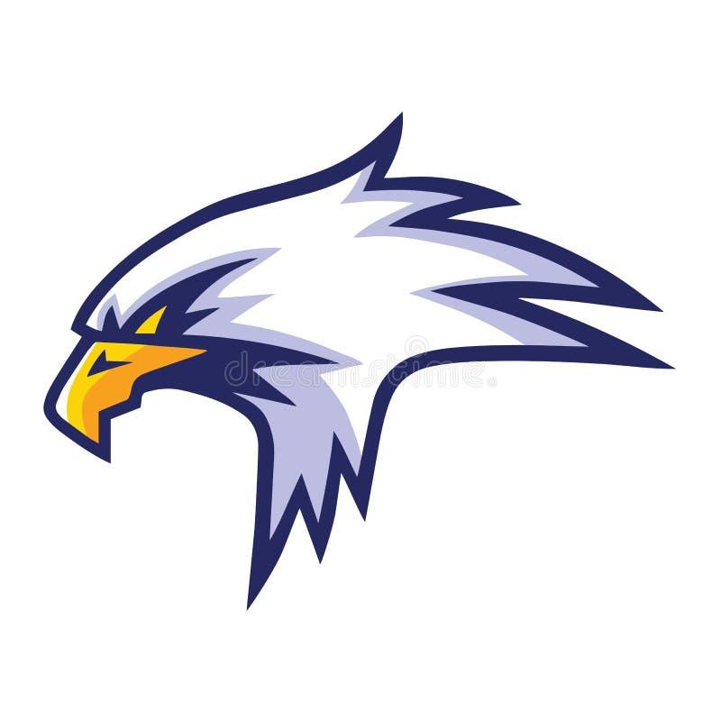 老鹰顶头吉祥人体育队商标模板设计 库存例证